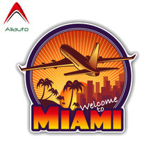 Aliauto Welcome To Miami Travel PVC Car Sticker for BMW X1 X3 X5 X6 M1 M3 M5 1 3 5 7 Series ,13CM*12CM(China)