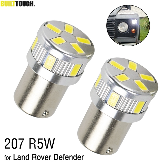207 R5W LED Bulbs For Land Rover Defender 90 110 Front Side Light Lamp Parking Light Headlight Position Clearance Lights