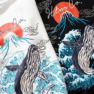 Image 4 - Mens Hip Hop Hoodie เสื้อกันหนาว Streetwear Harajuku ญี่ปุ่น Volcano ปลาวาฬพิมพ์ Hoodies Pullover ฝ้ายเหงื่อเสื้อ 2019 ฤดูใบไม้ร่วง