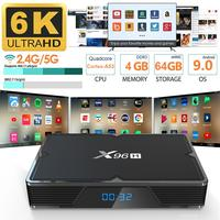 X96H (H603) TV Box Android 9.0 System Dual HDMI Support 6K Memory 4GB 64GB HD Network Player Wifi 2.4/5G Set top Box