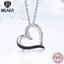 Изысканная подвеска в виде сердца из натуральной 925 пробы, серебряного, черного цвета и серебра AAA, роскошные ювелирные изделия GXN088