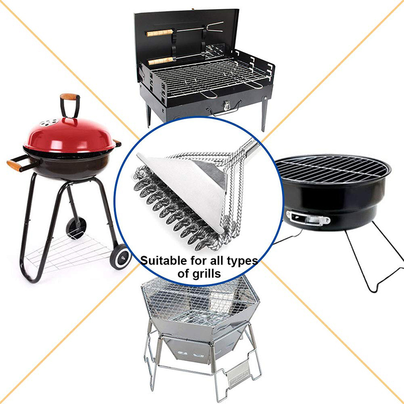 Grill Brush and Scraper, Best BBQ Cleaner, Perfect Tools for All Grill Types, Including Weber, Ideal Barbecue Accessories 4