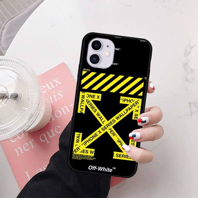 off white case coque fundas for iphone 11 PRO MAX X XS XR 4S 5S 6S 7 8 PLUS SE 2020 cases cover
