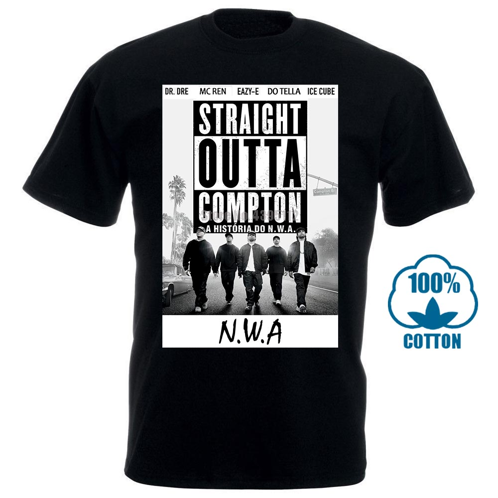 N.W.A. Hip Hop Rap 3 Men'S <font><b>T</b></font>-<font><b>Shirt</b></font> Nwa Dr. Dre Eazy E Dj Yella <font><b>Mc</b></font> Ren New Xs-5Xl Men Cotton <font><b>T</b></font> <font><b>Shirt</b></font> image