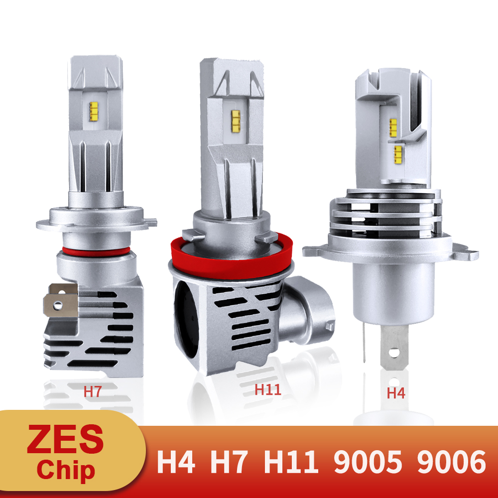 H7 <font><b>LED</b></font> Super Bright ZES Chip <font><b>H4</b></font> H11 9005 HB3 9006 HB4 <font><b>Led</b></font> Headlight Bulbs Hi-Lo Beam 12V 12000LM 6500K AutoLamp Accessories image