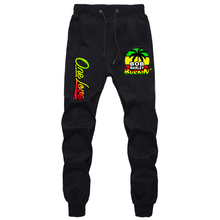 Casual Pants Jogger Trousers Sportswear Marley-Print Black Fitness Men Bob Gyms