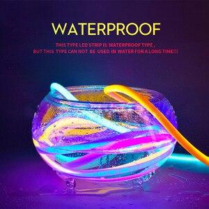 Image 4 - 360 עגול ניאון Led אור רצועת 220V 120LED 2835 צינור גמיש חבל אורות חג עמיד למים עיצוב הבית 1m 10m 20m 50m 100m