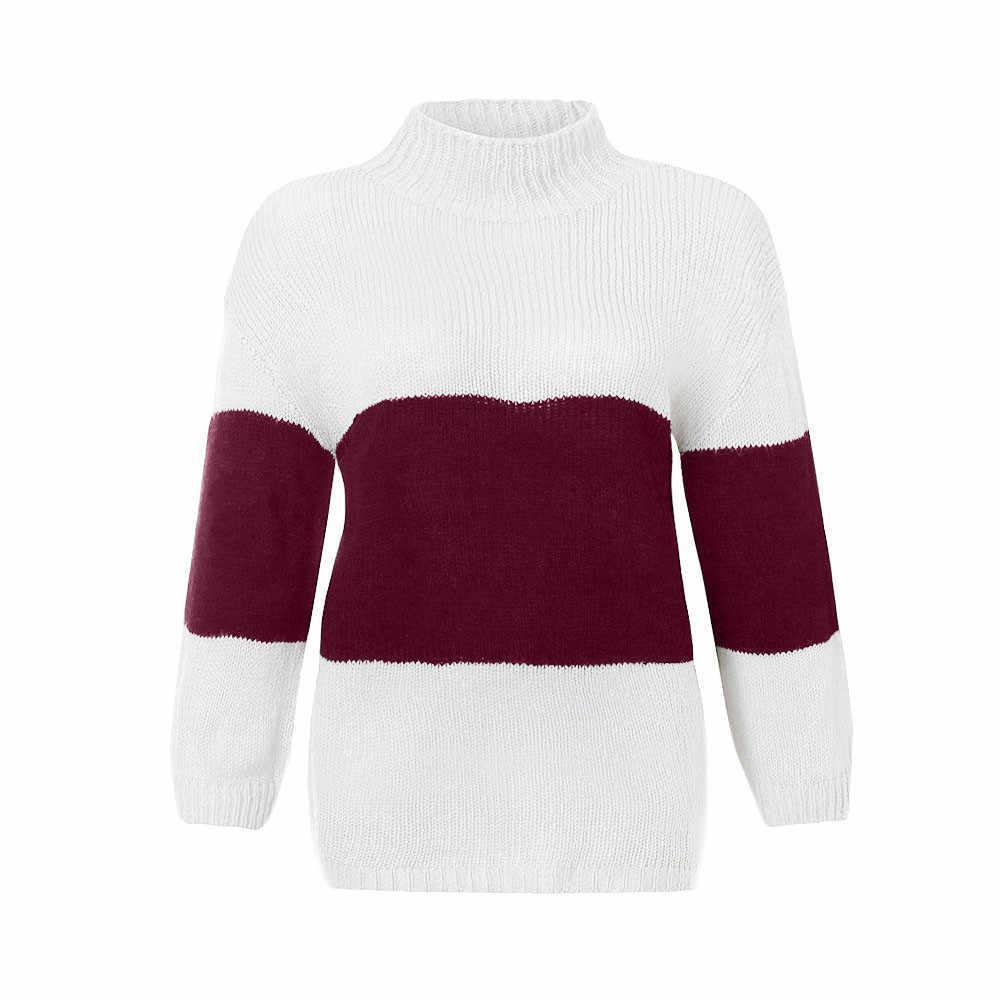 เสื้อกันหนาวผู้หญิงถัก KLV ผู้หญิงเสื้อกันหนาวสุภาพสตรีเสื้อกันหนาว pullover เสื้อลำลองแขนยาวเสื้อ 9.4