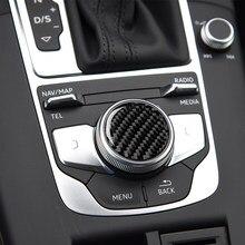 Panneau de boutons de commande en Fiber de carbone, accessoires décoratifs, autocollants de garniture de voiture, pour Audi A3 8V 2012 – 2017