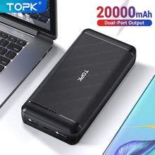 TOPK Power Bank 20000mAh Portable Charging Powerbank External Battery