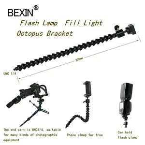Image 3 - Staffa flessibile per braccio supporto per Flash pieghevole dslr supporto per staffa Flash per fotocamera supporto per flash per slitta calda per Flash LED