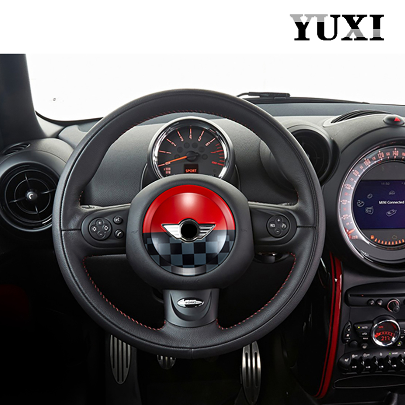 ABS Steering Wheel Center Sticker Decoration cover For BMW MINI ONE Cooper R55 R56 R57 R60 R61 CLUBMAN Car Styling Accessories