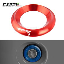 Interruptor de ignição da motocicleta tampa do anel alumínio cnc acessórios para piaggio vespa gts 250 300 sprint primavera 125 150 lx150