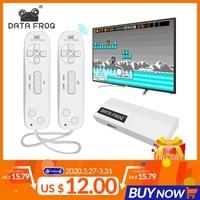 Портативная ТВ-видео игровая консоль Data Frog, USB, беспроводная, 620 встроенных классических 8-битных игр, мини-пульт, 2 геймпада, AV-выход
