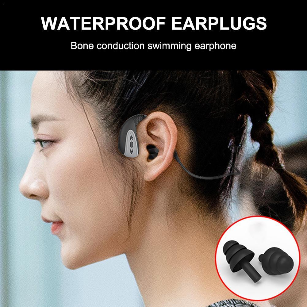 Bone Conduction Bluetooth 5.0 Headset Stereo Level 8 Waterproof Sports Swimming Running Wireless Headphone Mic Handsfree Headset on AliExpress 23