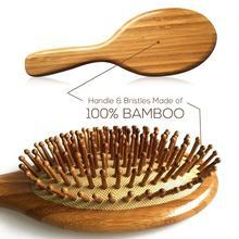 Деревянная бамбуковая щетка для волос премиум-класса, улучшает рост волос, деревянная щетка для волос, предотвращает выпадение волос, расче...