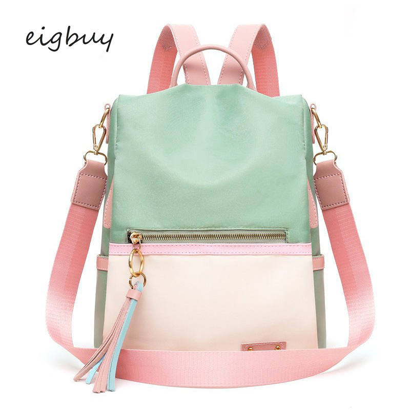 Female Student Backpack Backpack Bag Brand Classic Zipper Solid Pu Pink Business Teenage Backpacks For Girls Sac A Dos Schoolbag
