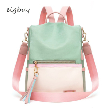 Female Student Backpack Bag Brand Classic Zipper Solid Pu Pink Business Teenage Backpacks For Girls Sac A Dos Schoolbag