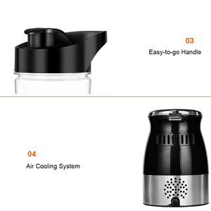 Image 5 - BPA FREE 500W Portable Personal Blender Mixer Food Processor With Chopper Bowl 600ml Juicer Bottle Meat Grinder Baby Food Maker