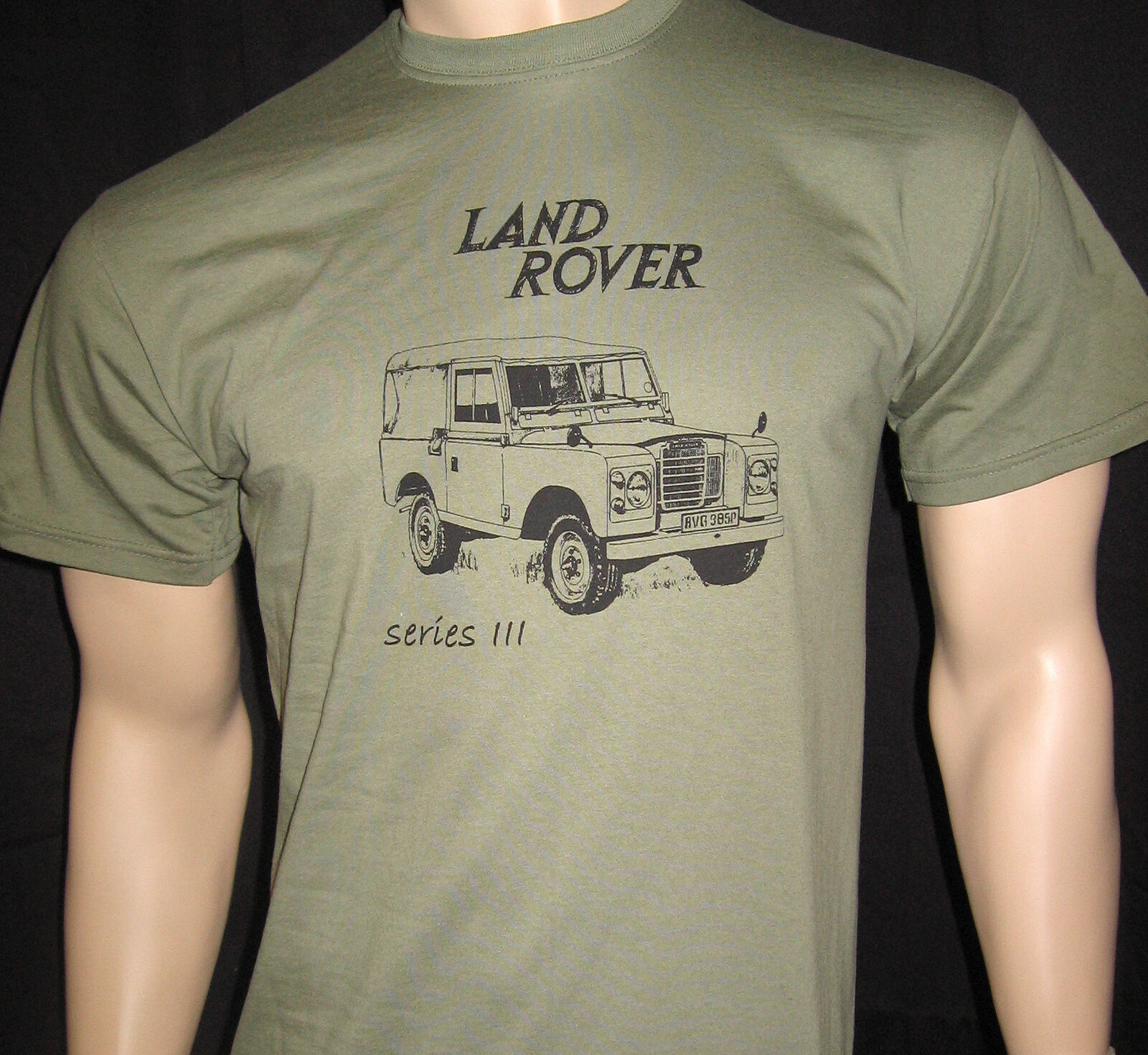 Land Harajuku Shirt For Men Rover Series 3 T Shirt 5 Sizes In Olive Green Or Khaki