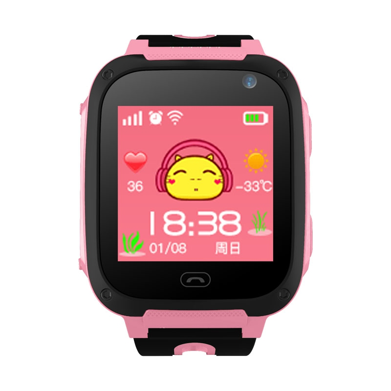 Smart Watch Kids Touch Screen Camera Positioning Children's Watches SOS Call Location Anti-Lost Reminder Watches Children Clock
