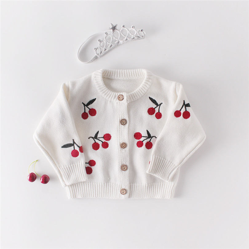 Knitted Baby Clothes 100% Cotton Cherry Baby Girl Clothes Baby Romper For Girls Infant Girl Jumpsuit Baby Girl Romper Set Clothe