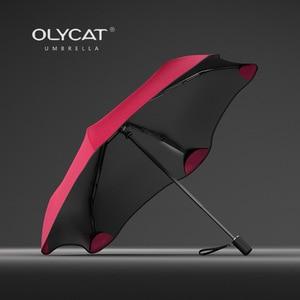 Image 1 - OLYCAT New Folding Umbrella Rain Women Creative Sun Protection Kids Umbrella Windproof 6K Aluminum Parasol Clear Umbrella UPF50+