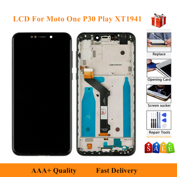 LCD Display Replacment Parts For Motorola Moto One XT1941-1-2-3-4-5 Digitizer Assembly Touch Screen For moto P30 Play XT1941 image