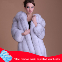 Abrigo de piel a la moda, cálido abrigo de piel de 100% para Chaqueta de piel Natural, chaquetas mullidas de manga larga elegantes para mujer, chaquetas de piel artificial de talla grande, abrigo S 3XL, 2020