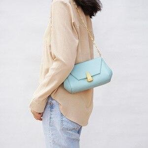 2020 Летние кожаные сумки, сумка из воловьей кожи, маленькая квадратная сумка на цепочке, мобильный телефон, сумка через плечо