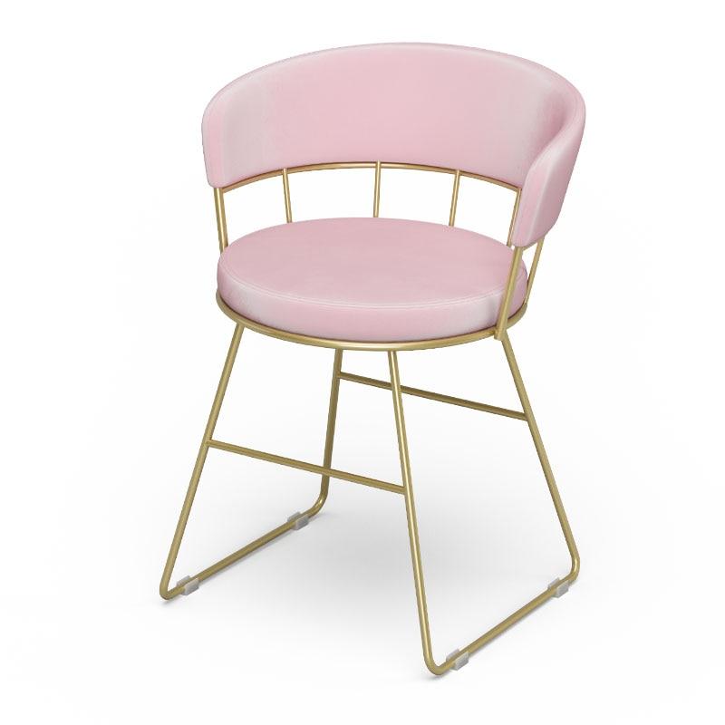 Nordic Dressing Table Chair Makeup Stool Modern Minimalist Chair Princess Bedroom Girl Soft Dressing Net Red Stool
