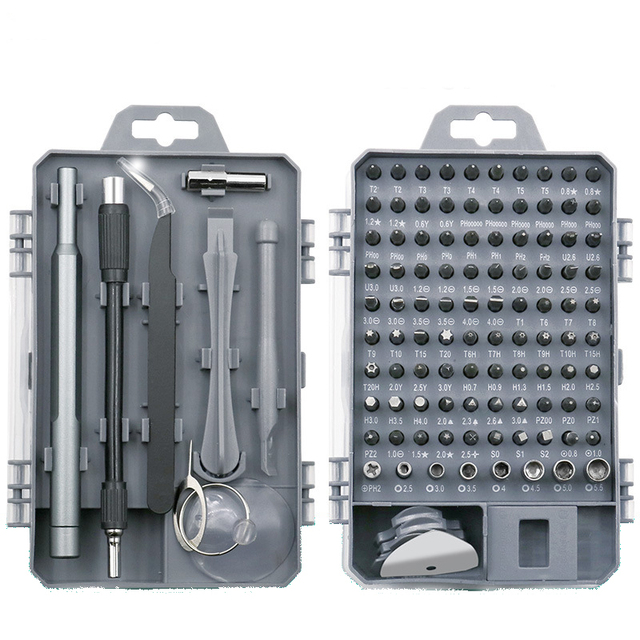 112 in 1 Screwdriver Set Mini Electric Precision Screwdriver Suitable for Mobile Phone Tablet PC Household Tool Set