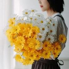 1PC symulacja afryki stokrotka jedwab sztuczny kwiaty ozdoby do pokoju kwiatowy dekoracje ślubne do domu rekwizyty fotograficzne sztuczne kwiaty