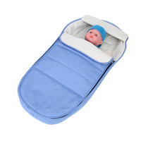 Newborn Baby Stroller Sleeping Bag Infant Zipper Knit Swaddle Wrap Swaddling Stroller Wrap Toddler Blanket Sleeping Bags
