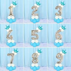 Image 2 - Heronslei 1, 2, 3, 4, 5, 6, 7, 8, 9 anos, feliz aniversário, folha de número, balões, bebê, menino e menina decorações de festa crianças suprimentos 2ª 3ª
