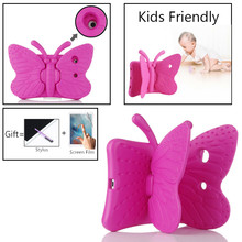 3D Cartoon EVA Shockproof Case For iPad 10.2 Inch 2019 Kids Butterfly Stand Tablet Cover For Apple IPad 7 7th Generation 2019