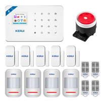KERUI W18 Alarm System 1.8Inch Full Touch Screen WIFI GSM Security Alarm System App Remorte Control With Door/Motion Sensors