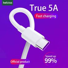 kebiss USB Type C Cable for Samsung huawei 5A Fast USB Charging Type-C Charger Data Cable for xiaomi Redmi  USB C Cable