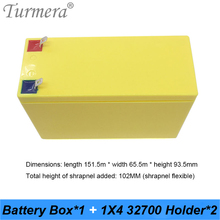 Turmera 32650 32700 Lifepo4 Battery Storage Box with 1x4 Bracket for 12V Uninterrupted Power Supply and