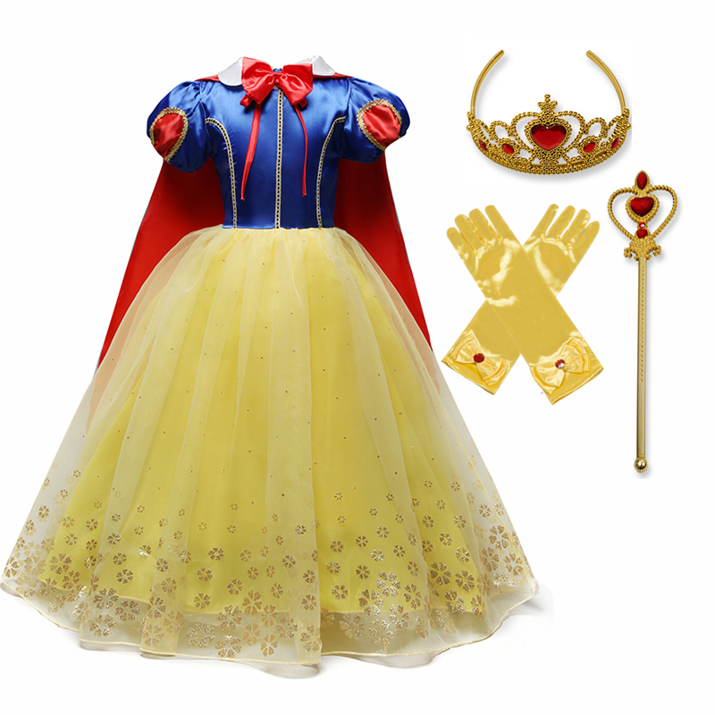 Princess Cosplay Costume Elegant Princess Dress for Girls Children's Party Dress-up 4-10T Kids Ball Gown 6