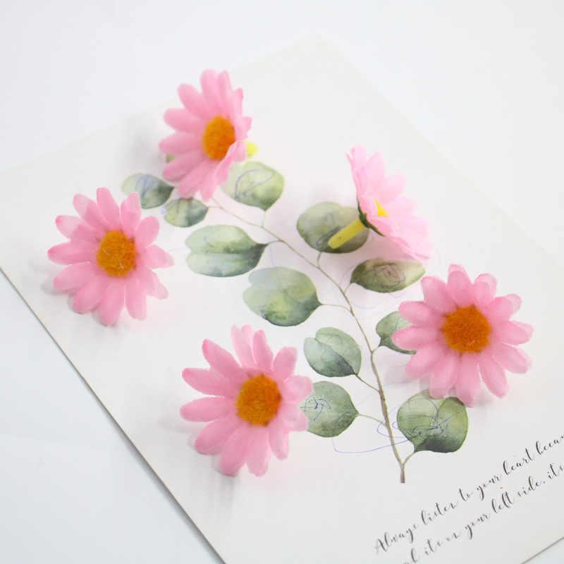 2 سنتيمتر متعدد الألوان ديزي زهرة رؤساء الحرير الصغيرة الزهور الاصطناعية ل إكليل سكرابوكينغ ديكورات منزلية لحفل الزفاف