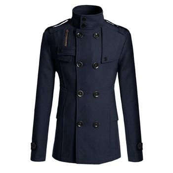 MRMT 2021 marka jesień zima nowych mężczyzna kurtki naprawy ciała wełniany płaszcz dla mężczyzn podwójne piersi zagęszczony kurtka tanie i dobre opinie CN (pochodzenie) Pełne REGULAR COTTON POLIESTER STANDARD wyszywana Wełna mieszanki NONE Stałe Wykładany kołnierzyk