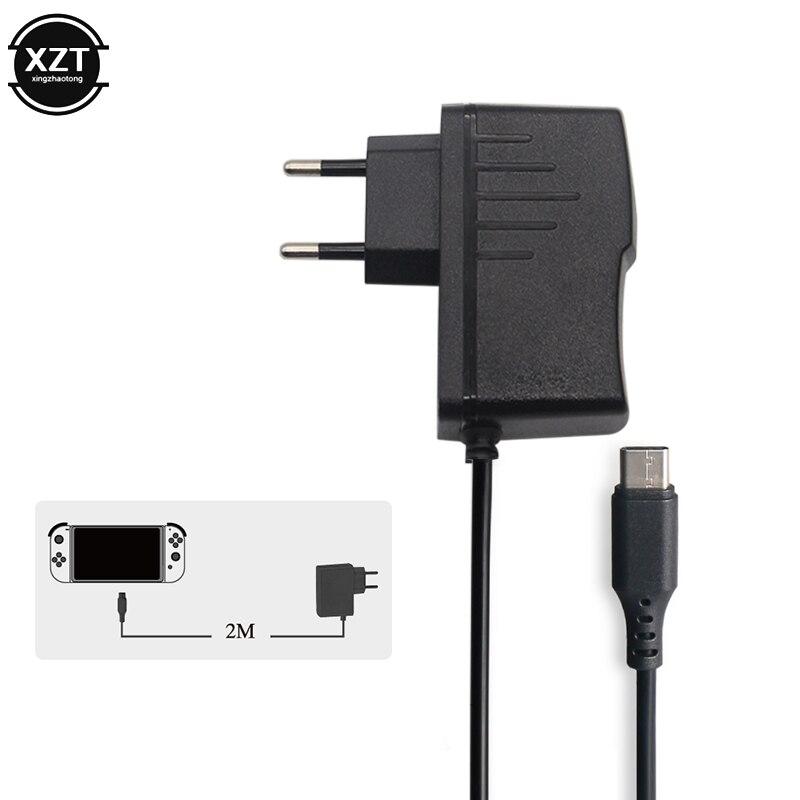 Зарядное устройство 3 м для ЕС, для Nintendo Switch NS, игровая консоль ABS, 5 В, 2,4 А, адаптер переменного тока, зарядка USB Type C, источник питания, зарядное устройство для путешествий