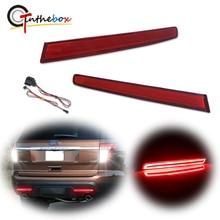 GTinthebox 2x Super Bright European Style LH RH Red LED Bumper Reflectors Rear Brake Tail Fog Lights For 2011 2015 Ford Explorer