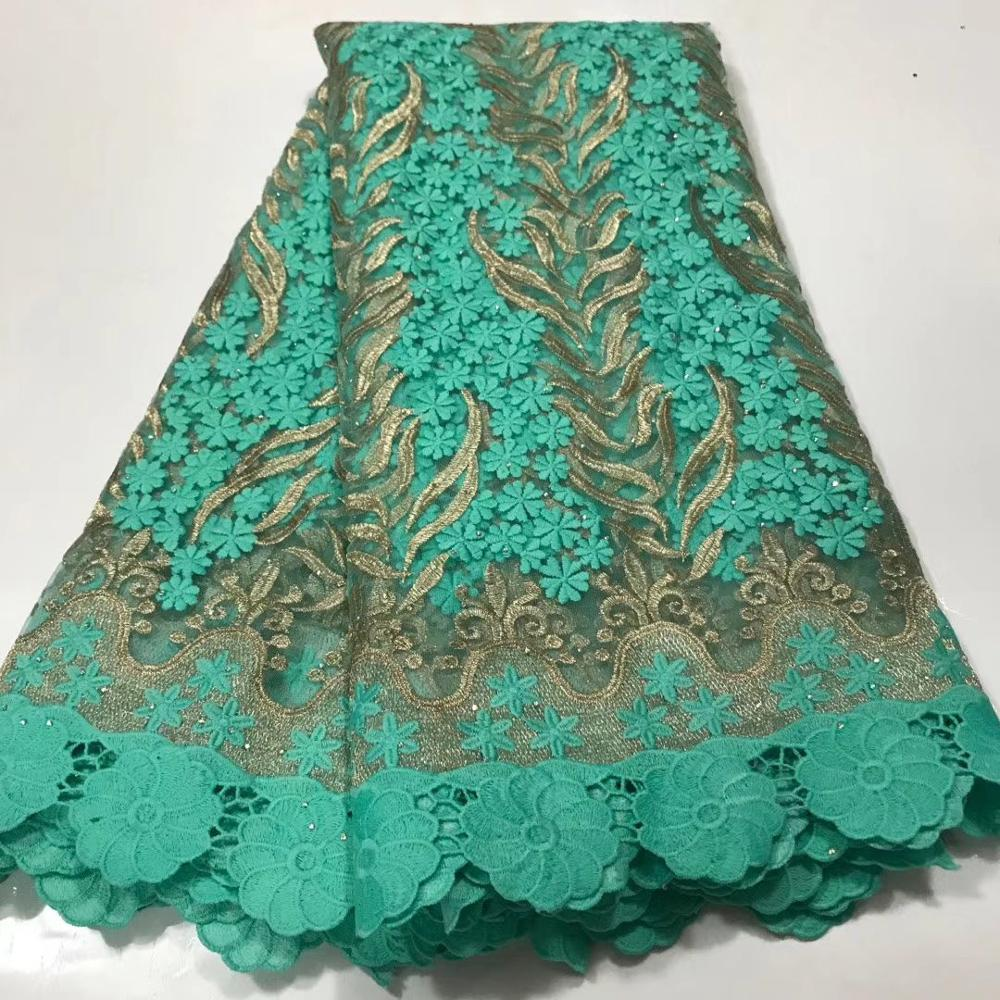 Light Green Mesh French Tulle Lace, African Ankara Swiss Voile Lace Fabrics For Wedding Dress 2020 Latest Nigerian Lace Material