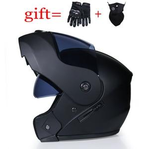 Image 2 - VURTUR 903 DOT certification fashion flip up motorcycle helmet dual visor system full face helmet fit for men women S M L XL