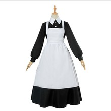 2021 Cosplay Costume Babysitter Cosplay Women Maid Dress Anime Costume Skirt and apron Halloween Dresses black white