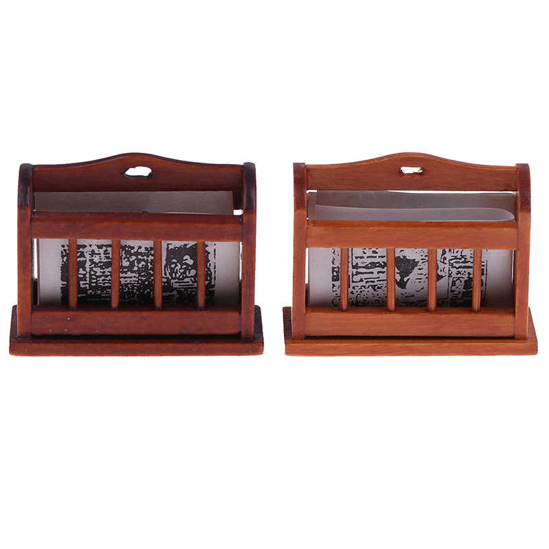 رف كتب محمول حقيبة ظهر للصحيفة مشبك مشبك نموذج بيت الدمية ألعاب أطفال دمية ملحقات تعلم مصغرة