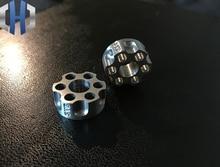 Paracord Beads Titanium Steel CNC One Revolver Gun Pendant Reel Cutter EDC Outdoor Tactical Equipment Knife