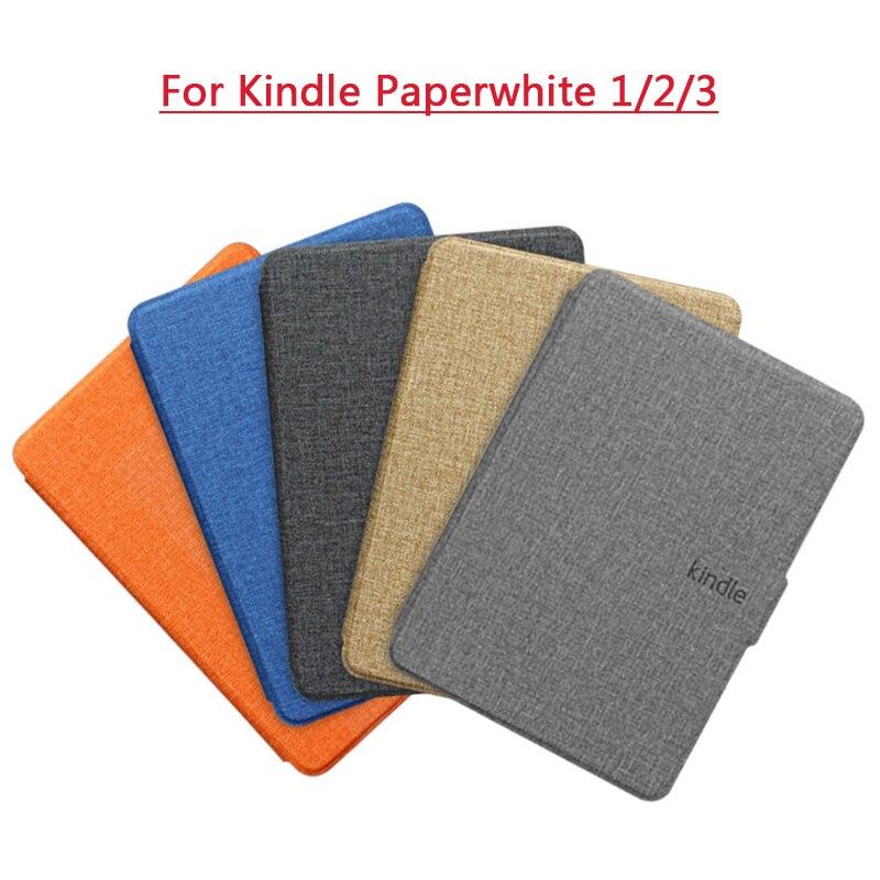 Ультратонкий защитный чехол из искусственной кожи, смарт-чехол, чехол-книжка для Amazon Kindle Paperwhite 1/2/3 DP75SDI, чехол поколения